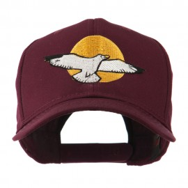 Seagull with Sun Embroidered Cap