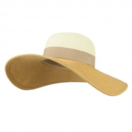 UPF 50+ Color Band Wide Brim Hat