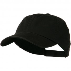 Low Profile Unstructured Cotton Cap - Black