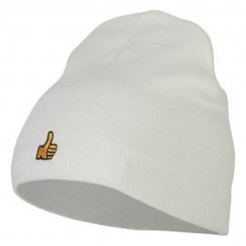 Mini Thumbs Up Embroidered Short Beanie
