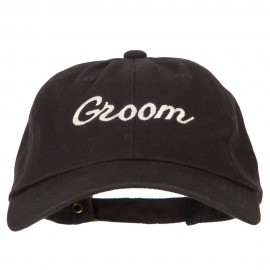 Glitter Groom Embroidered Unstructured Washed Cap