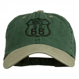 US Route 66 Embroidered Pigment Dyed Washed Cap