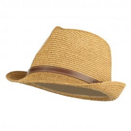 UPF 50+ Tweed Braid Paper Fedora