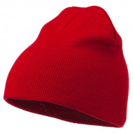 Ultra Soft Acrylic Knit Beanie - Red