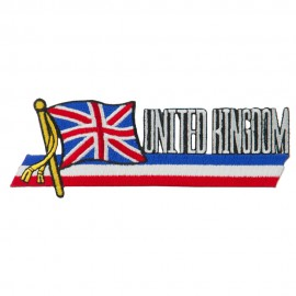 Europe Flag Cutout Embroidered Patches