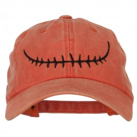 Skeleton Mouth Embroidered Unstructured Cotton Cap