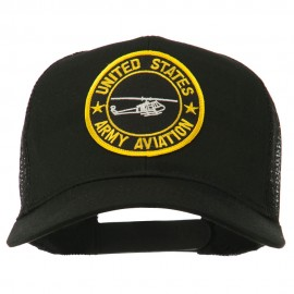 US Army Aviation Patched Mesh Cap - Black