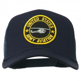 US Army Aviation Patched Mesh Cap