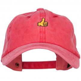 Mini Thumbs Up Embroidered Unstructured Dyed Cap
