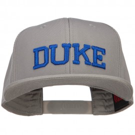 3D DUKE Embroidered Flat Bill Cotton Snapback