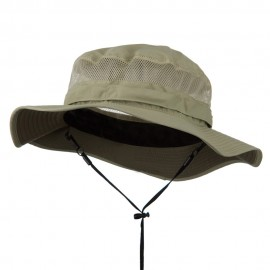 Big Size Taslon UV Bucket Hat - Khaki