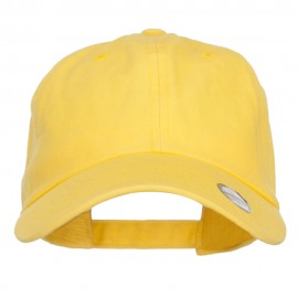 Unstructured Cotton Twill Washed Cap - Yellow