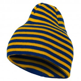Trendy Striped Beanie - Royal Yellow