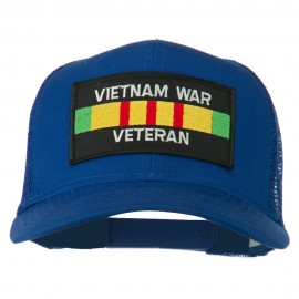 Vietnam War Veteran Patched Mesh Cap