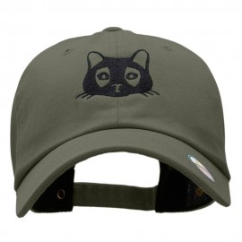 Cat Embroidered Unstructured Cotton Twill Cap