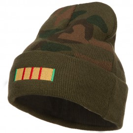 Vietnam Campaign Ribbon Embroidered Camo Long Beanie