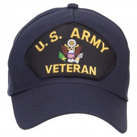 US Army Veteran Military Patched 5 Panel Cap - Navy