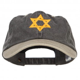 Jewish Star of David Embroidered Two Tone Cap