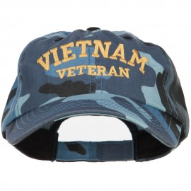 Vietnam Veteran Letters Embroidered Enzyme Camo Cap