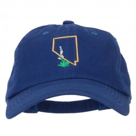 Nevada Sagebrush with Map Embroidered Unstructured Washed Cap