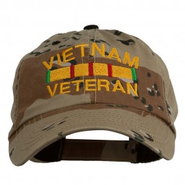 Vietnam Veteran Embroidered Enzyme Washed Cap