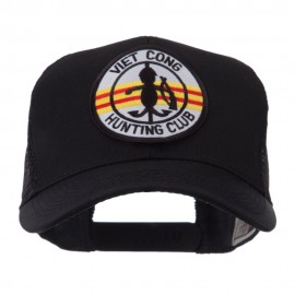 Veteran Embroidered Military Patched Mesh Cap