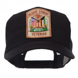 Veteran Embroidered Military Patched Mesh Cap - DS Veteran
