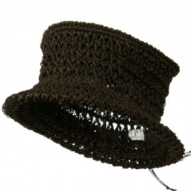 Vegetable Fiber Crocheted Straw Hat