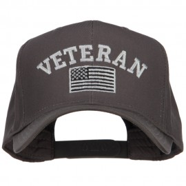 Veteran Silver Flag Embroidered Twill Cap