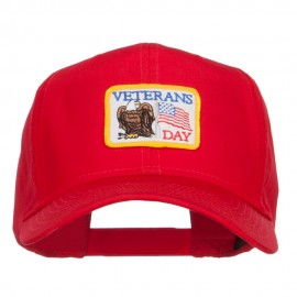 US Veterans Day Flag Patched Cap