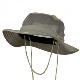 Big Size Talson UV Mesh Bucket Hat - Grey