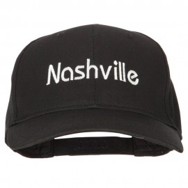 Nashville Embroidered Solid Cotton Pro Style Cap
