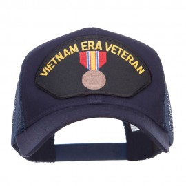 Vietnam ERA Veteran Patched Mesh Cap