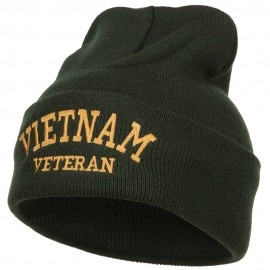 Vietnam Veteran Embroidered Long Beanie