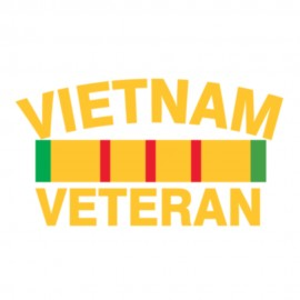 Vietnam Veteran Badge with Letters Heat Transfers Sticker