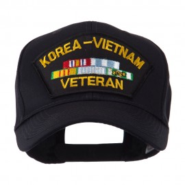 Veteran Military Large Patch Cap - Korea Vietnam