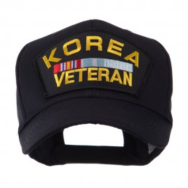 Veteran Military Large Patch Cap - Korea Veteran