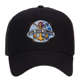 Naval Space Command Embroidered Mesh Cap