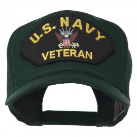 US Navy Veteran Military Patched High Profile Cap
