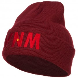 Vietnam VNM Flag Embroidered Long Beanie