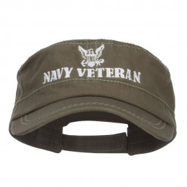 Navy Veteran Embroidered Military Cap