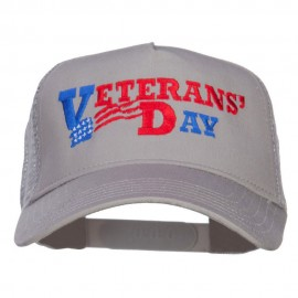 Veterans Day Embroidered 5 Panel Mesh Cap