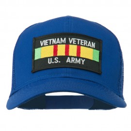 Vietnam Army Veteran Patched Mesh Cap