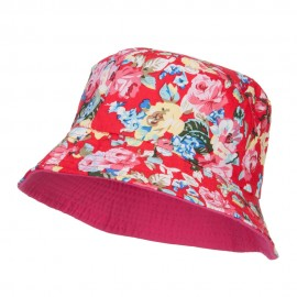 Reversible Floral Design Bucket Hat