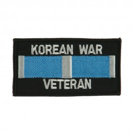 Veteran Rectangle Embroidered Military Patch - Korean