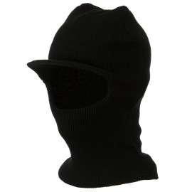 One Hole Brimmed Ski Mask - Black