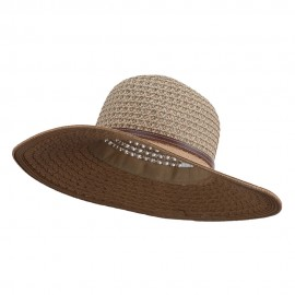 UPF 50+ Tweed Braid Sun Hat
