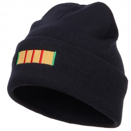 Vietnam Campaign Ribbon Embroidered Long Beanie - Navy