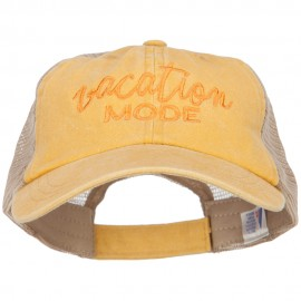 Vacation Mode Embroidered Washed Twill Trucker Cap