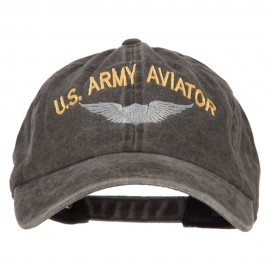 US Army Aviator Embroidered Washed Cotton Twill Cap